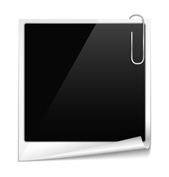 Photo frame with curl vector image vector image