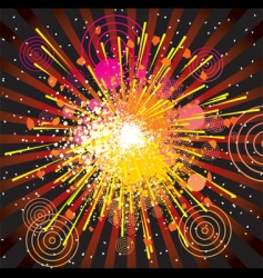 abstract explode vector image vector image