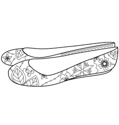 Ballet shoes colorfing vector