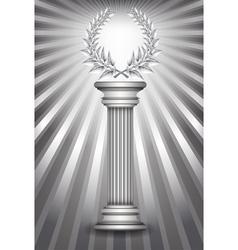 Column laurel silver vector image vector image