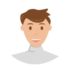 Face of young man cartoon vector image