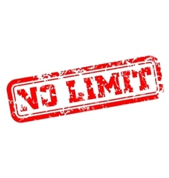 No limit rubber stamp vector image vector image