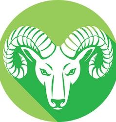 Ram Head Icon vector image vector image