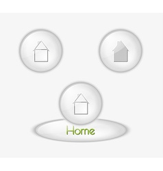 buttons with houses vector image vector image