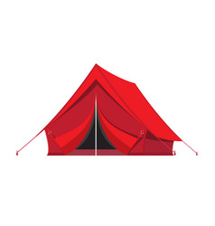 camping tent tourism travel vacation sport vector image vector image