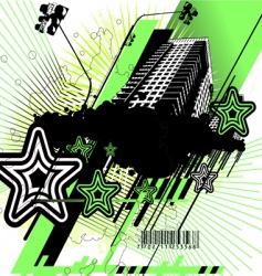 green and black urban design vector image
