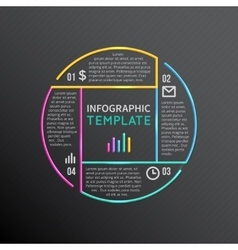 Infographic report template with line vector image vector image