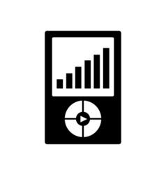 Mp3 player icon Portable media player symbol vector image