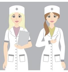 Nurses Set vector image