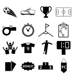 soccer football icon set vector image vector image