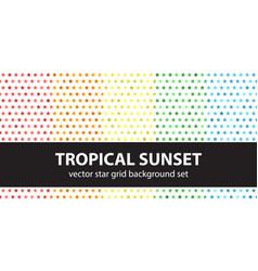 star pattern set tropical sunset seamless vector image vector image
