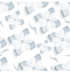 Abstract background seamless pattern with sakura vector image vector image