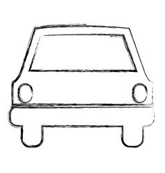 monochrome sketch of automobile front vector image vector image