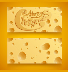 Abstract christmas horizontal banners vector
