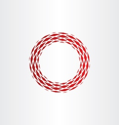 Abstract circle frame red background element vector