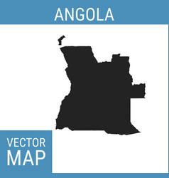 Angola map with title vector