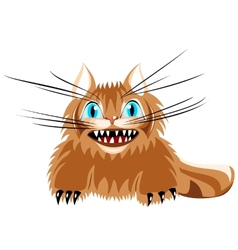 Angry kitten with long whiskers vector