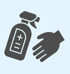 Antiseptic spray bottle for hands solid icon vector