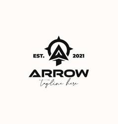 Arrowhead for archer archery outdoor vintage vector