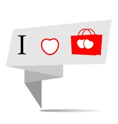 Banner i love shopping vector image