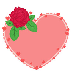 beautiful heart with a floral decoration for vector image