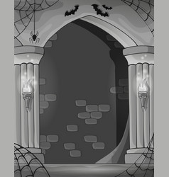 Black and white wall alcove vector