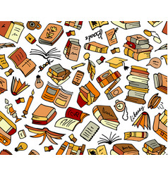 books collection seamless pattern for your design vector image