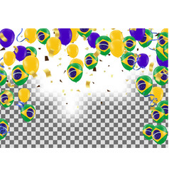 brazil flags and brazil balloons garland with vector image