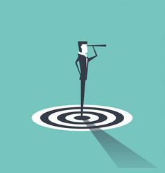 businessman standing on target vector image