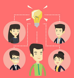 businessmen discussing business ideas vector image
