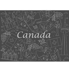 Canada chalk vector