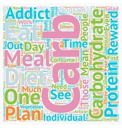 Carb addict yes or no text background wordcloud vector