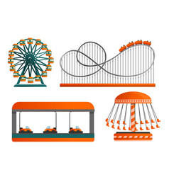 carousel icon set cartoon style vector image