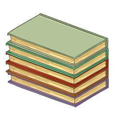cartoon stack hardcover books vector image