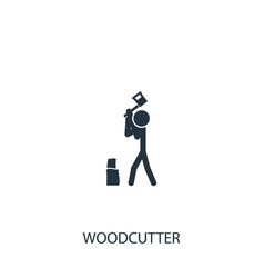 Chopping wood icon simple gardening element vector