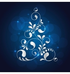 christmas white tree vector image