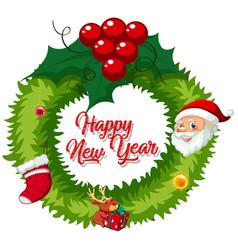 Christmas wreath for decoration vector