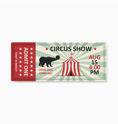 circus ticket vector image