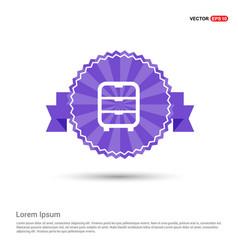Cupboard icon - purple ribbon banner vector