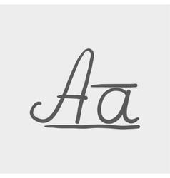Cursive letter a sketch icon vector