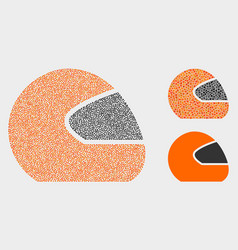 Dotted motorcycle helmet icons vector