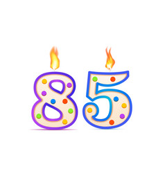 eighty five years anniversary 85 number shaped vector image
