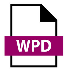 file name extension wpd type vector image