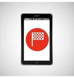 Flag mobile phone navigation vector