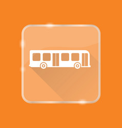Flat style bus silhouette icon vector