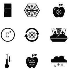 Freezer icon set vector