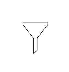 funnel line icon vector image