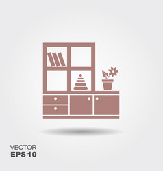 furniture for nursery icon vector image