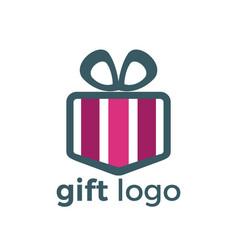 gift logo design vector image