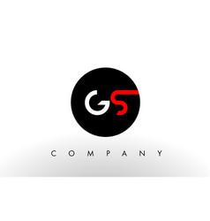 gs logo letter design vector image